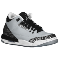 Jordan Retro 3 - Boys' Grade School - Grey / Silver