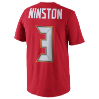 Nike NFL Player T-Shirt - Men's -  Jameis Winston - Tampa Bay Buccaneers - Red / White