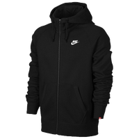Nike AW77 Full Zip Hoodie - Men's - All Black / Black