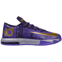 Nike KD VI - Boys' Grade School - Purple / Gold