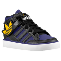 adidas Originals Hard Court Hi Strap - Boys' Toddler - Black / Purple