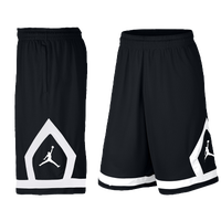 Jordan Flight Diamond Shorts - Men's - Black / White
