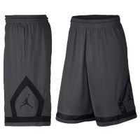 Jordan Flight Diamond Shorts - Men's - Grey / Black