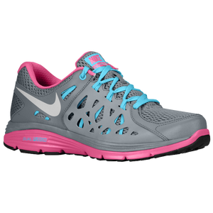 Nike Dual Fusion Run 2 - Women's - Cool Grey/Gamma Blue/Club Pink/Metallic Platinum