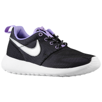 Nike Roshe Run - Girls' Grade School - Black / Purple
