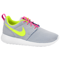 Nike Roshe Run - Girls' Grade School - Grey / Pink