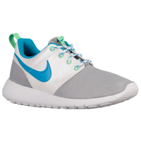 Nike Roshe One - Girls' Grade School - Silver / Light Blue