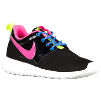 Nike Roshe One - Girls' Grade School - Black / Pink