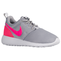 Nike Roshe One - Girls' Grade School - Grey / Pink