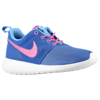 Nike Roshe Run - Girls' Grade School - Blue / Pink