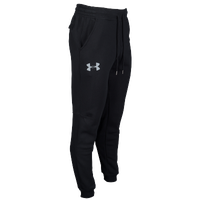 Under Armour Rival Cotton Fleece Jogger Pants - Men's - Black / Grey