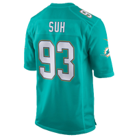 Nike NFL Game Day Jersey - Men's -  Ndamukong Suh - Miami Dolphins - Aqua / White