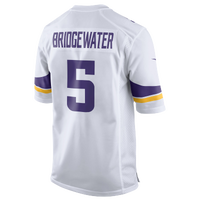Nike NFL Game Day Jersey - Men's -  Teddy Bridgewater - Minnesota Vikings - White / Purple
