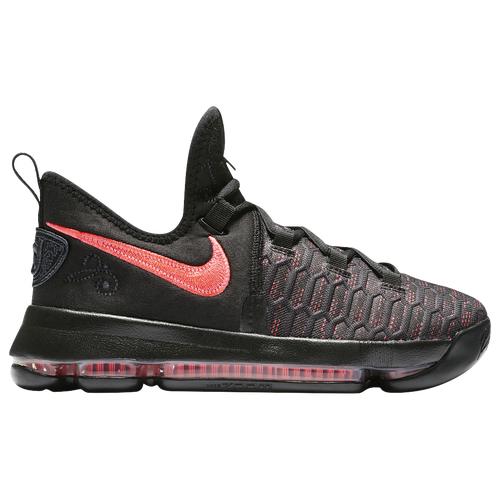 ed474513 Nike KD 9 - Boys' Grade School - Basketball - Shoes - Durant, Kevin - Black/ Hot Punch