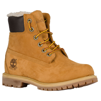 "Timberland 6"" Premium Lined WP Boots - Women's - Tan / Off-White"