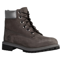 "Timberland 6"" Premium Waterproof Boots - Boys' Grade School - Grey / Black"