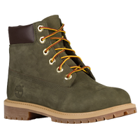 "Timberland 6"" Premium Waterproof Boots - Boys' Grade School - Olive Green / Brown"