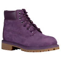 "Timberland 6"" Premium Waterproof Boot - Girls' Grade School - Purple / Tan"