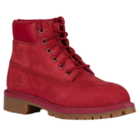 "Timberland 6"" Premium Waterproof Boots - Boys' Preschool - Red / Tan"