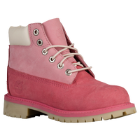 "Timberland 6"" Premium Waterproof Boot - Girls' Toddler - Pink / Off-White"