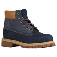 "Timberland 6"" Premium Waterproof Boots - Boys' Toddler - Navy / Tan"