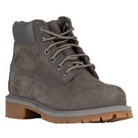 "Timberland 6"" Premium Waterproof Boots - Boys' Grade School - Grey / Tan"