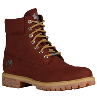 "Timberland 6"" Premium Waterproof Boots - Men's - Maroon / Tan"