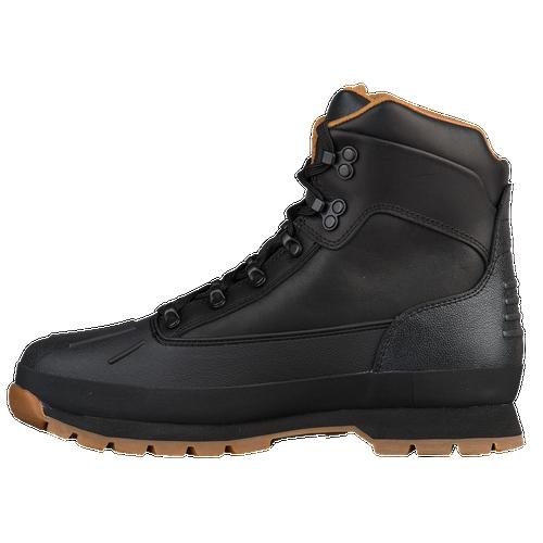 Timberland Euro Hiker Shell Toe Boots - Men's - Black / Tan