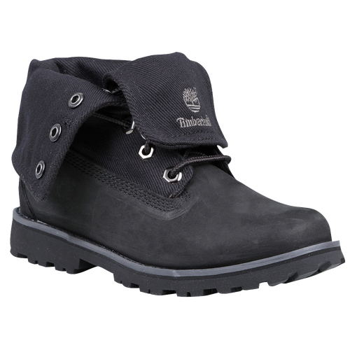 Timberland Fold Down Boots - Girls' Toddler - Black / Grey
