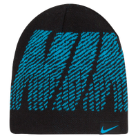Nike Reversible Jacquard Beanie - Boys' Preschool - Black / Light Blue
