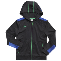 adidas Focus Jacket - Boys' Toddler - Black / Blue