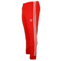 adidas Originals SST Cuffed Track Pants - Men's - Red / White
