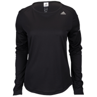 adidas Climacool Sequencials Long Sleeve T-Shirt - Women's - All Black / Black
