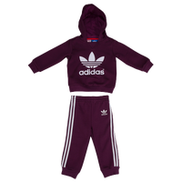 adidas Originals Trefoil Set - Boys' Infant - Maroon / White