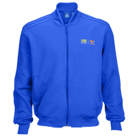 adidas Originals Superstar Track Jacket - Men's - Light Blue / Yellow