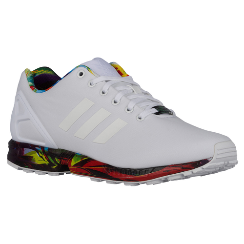 cheap for discount fbfd9 62a39 coupon code for adidas zx flux white with colorful bottom b2784 6f4d0