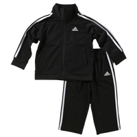 adidas Tricot Set - Boys' Toddler - Black / White