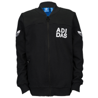 adidas Originals Fleece Track Top - Boys' Grade School - Black / White