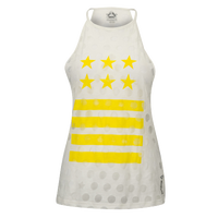Reebok Yoga Star Tank - Women's - White / Yellow