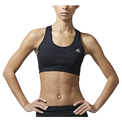adidas Techfit Sports Bra - Women's - Black / Black
