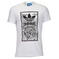 adidas Originals Handdrawn Bball T-Shirt - Men's - White / Black