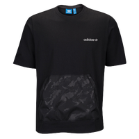 adidas Originals Oversized Camo Pocket T-Shirt - Men's - Black / Grey