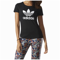 adidas originals trefoil t shirt women 39 s black white. Black Bedroom Furniture Sets. Home Design Ideas