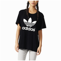 adidas Originals Boyfriend Trefoil T-Shirt - Women's - Black / White