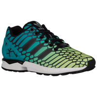 adidas Originals ZX Flux - Boys' Grade School - Yellow / Aqua