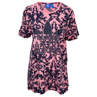 adidas Originals Baroque Ornament All Over Print T-Shirt - Women's - Pink / Navy