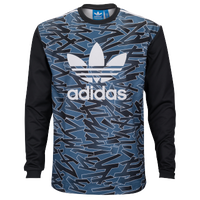 adidas Originals Shatter Stripe Goalkeeper Sweat - Men's - Black / Blue