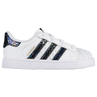 factory price 02cb5 6d5d5 adidas Originals Superstar - Girls  Toddler - Black   White