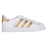 adidas Originals Superstar - Boys' Toddler - White / Gold