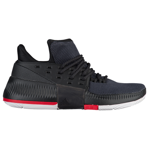 adidas Dame 3 - Boys' Grade School -  Damian Lillard - Black / Red
